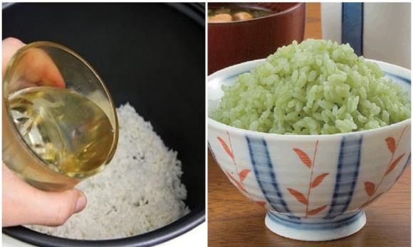 nấu cơm, nấu cơm, nấu cơm bằng nước trà, nấu cơm với nước trà, nước chè, nước trà