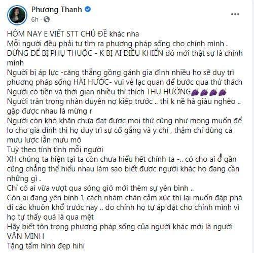 Ca sĩ Phương Thanh, chị Chanh, phật tử, triết lý sống, đạo Phật, sao Việt,