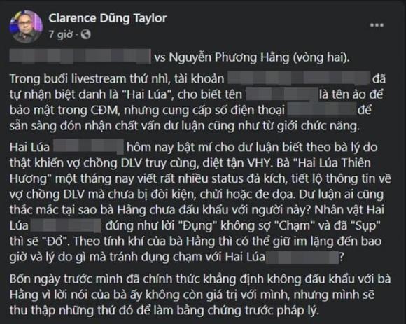 Dũng Taylor, ca sĩ Thu Phương, doanh nhân Phương Hằng