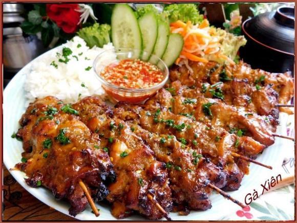 gà xiên nướng, các món ngon từ gà, món ngon