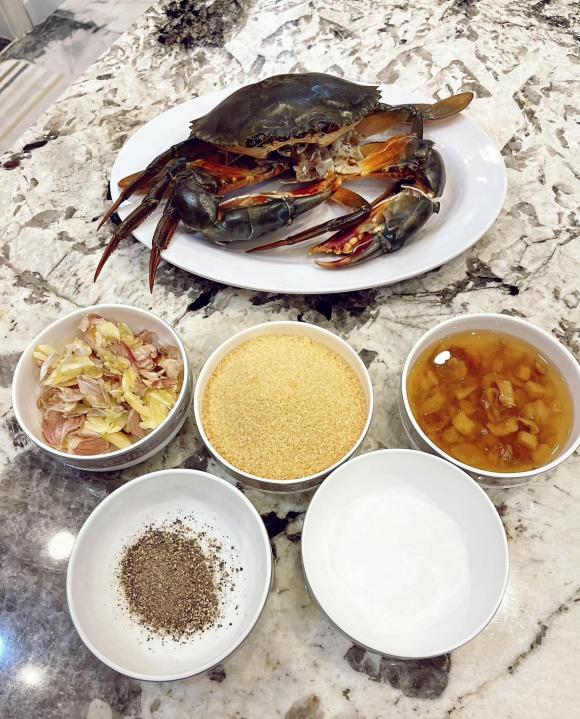 cua sốt tiêu đen, món ngon từ cua, Đăng Khôi, vợ Đăng Khôi