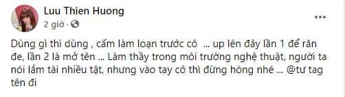 Lưu Thiên Hương, học trò, nọc trò hỗn láo, tệ nạn xã hội, sao Việt