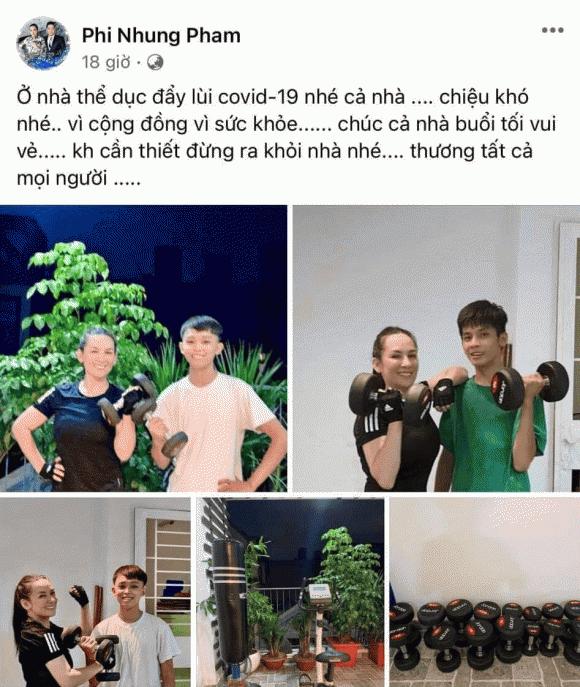 Phi Nhung, Hồ Văn Cường, dịch bệnh, tập thể dục, tăng cường sức khỏe, sao việt