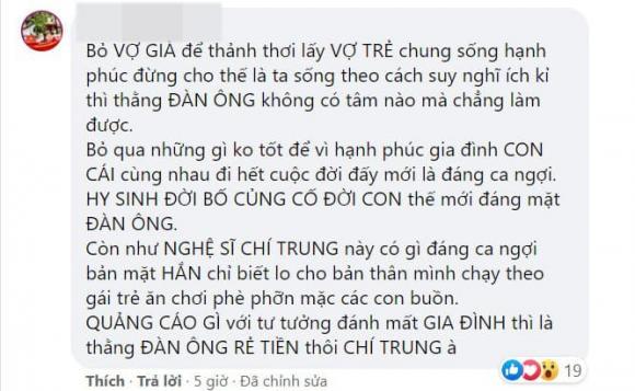 nghệ sĩ Chí Trung, sao việt, bạn gái Chí Trung