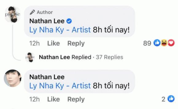 Lý Nhã Kỳ, Nathan Lee, Sao Việt