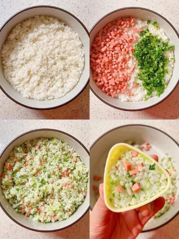 Nấu cơm,bánh làm từ cơm,bữa ăn gia đình