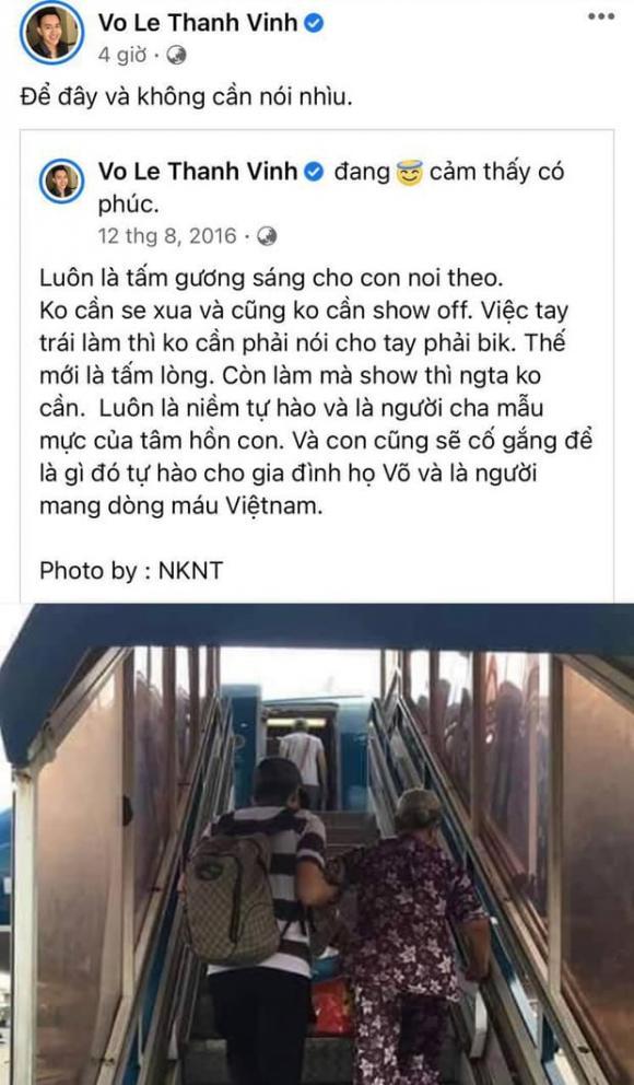 Hoài Linh, con trai Hoài Linh, Võ Lê Thành Vinh