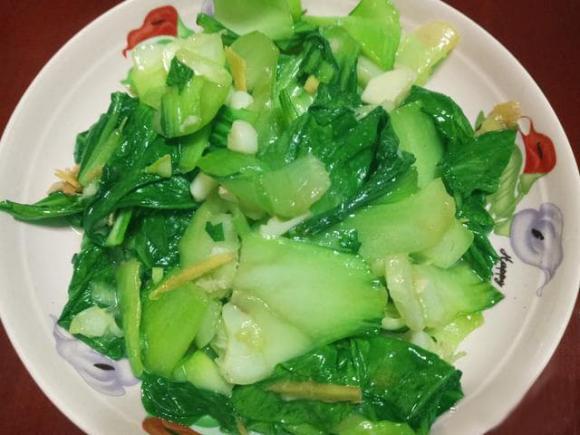rau cải chip xào, món ngon, dạy nấu ăn