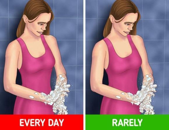 vệ sinh cơ thể, tắm đúng cách, kiến thức