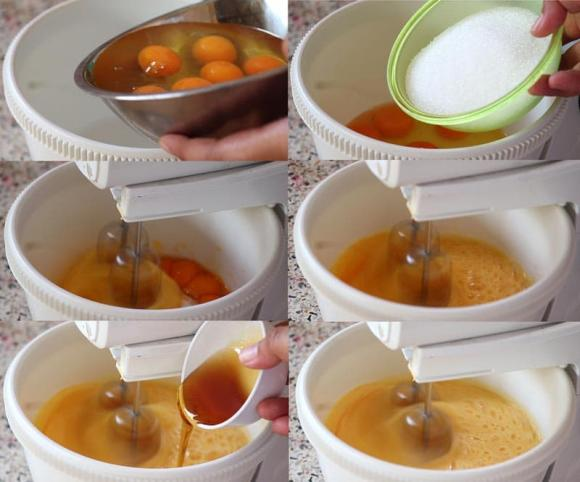 bánh bông lan, món ngon, dạy nấu ăn