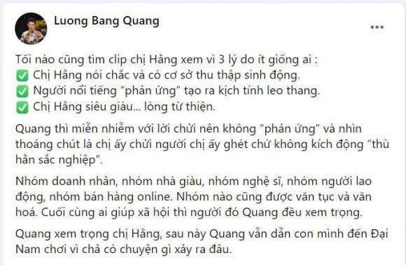 Lương Bằng Quang, bà Phương Hằng, vợ ông Dũng lò vôi