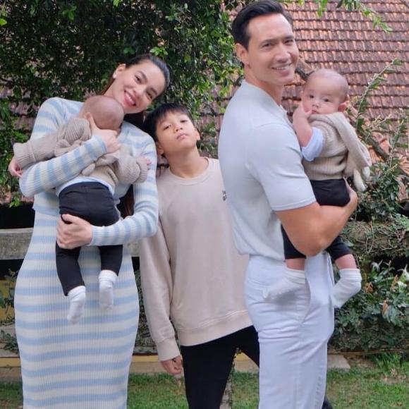 Hồ Ngọc Hà, Leon, Lisa, sao Việt, cặp song sinh