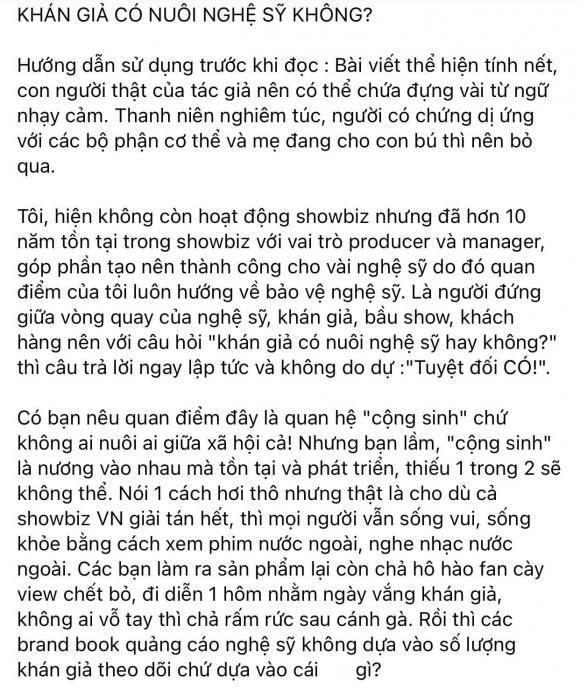 Thu Trang, Tiến Luật, đạo diễn, khán giả không nuôi nghệ sĩ, sao Việt