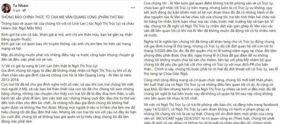 Linh Lan, Vân Quang Long, Cố ca sĩ, Loạt lùm xùm