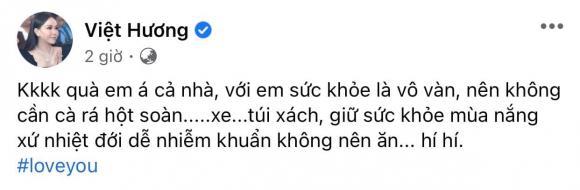 Việt Hương, Hoài Phương, tặng quà vợ, cam kết tặng quà vợ, tiết canh, sao Việt