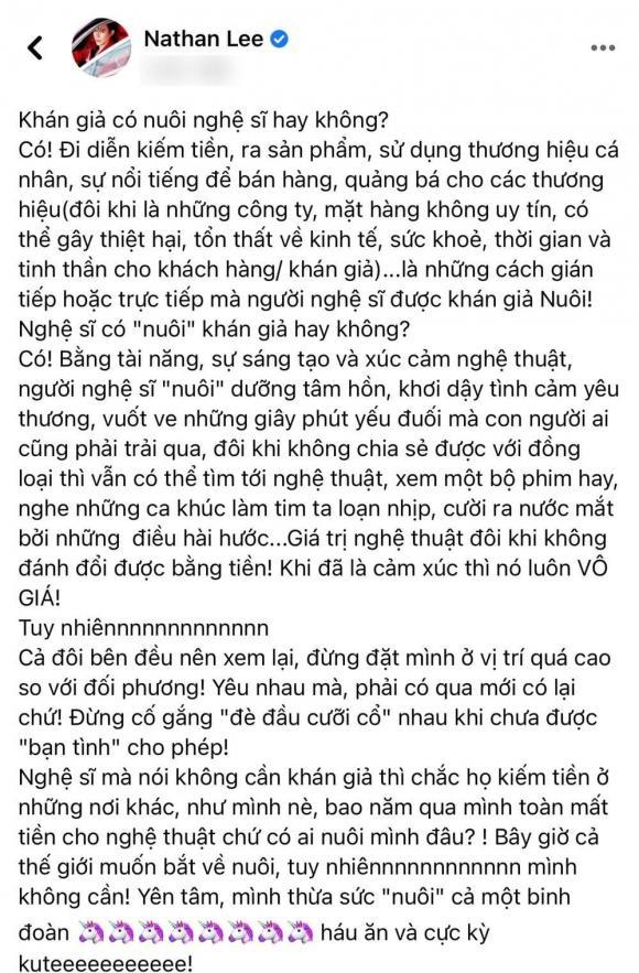 Lâm Khánh Chi, Sao Việt, Khán giả nuôi nghệ sĩ