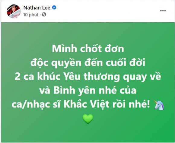 Nathan Lee, Cao Thái Sơn, Sao Việt, Khắc Việt
