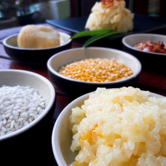 nấu xôi, cách nấu xôi bằng lò vi sóng, món ngon