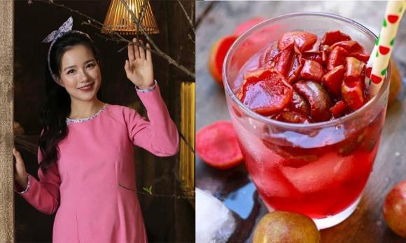 MC Minh Trang, siro mận, nước giải khát