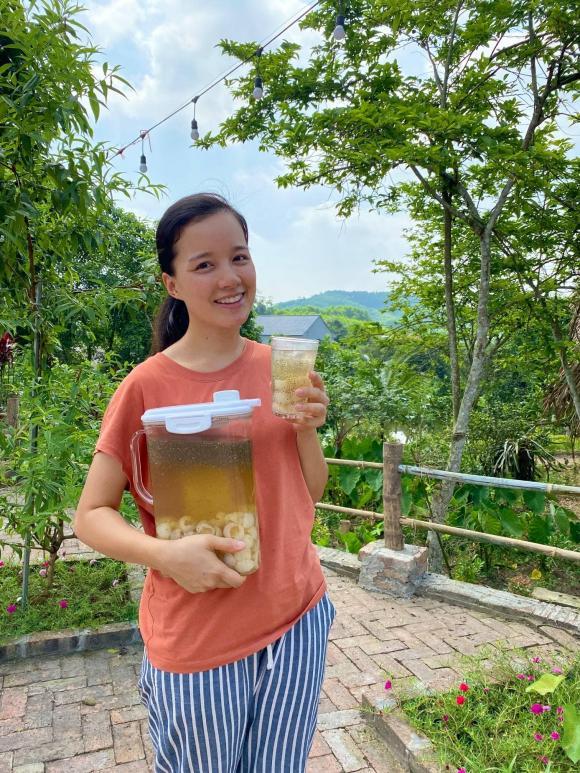 MC Minh Trang, trà vải hạt chia, công thức làm trà vải hạt chia
