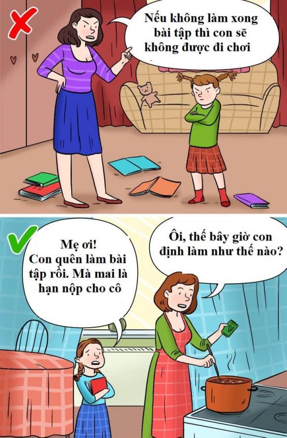 kèm con học, dạy con học, dạy con, kèm con học bài, cách dạy con sai lầm, cha mẹ dạy con học