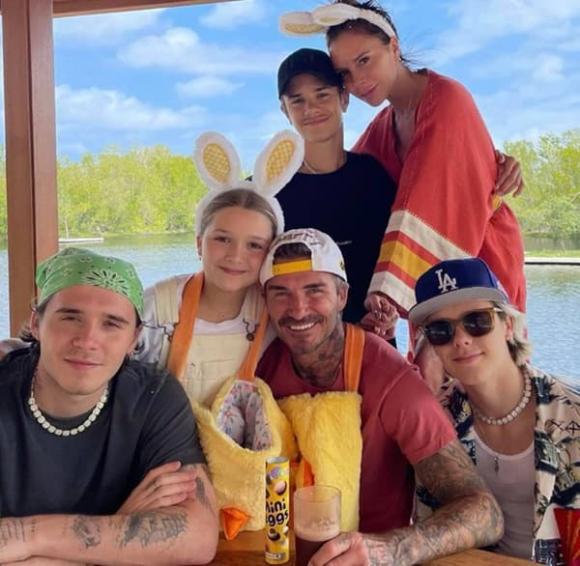 Harper Beckham, gia đình Becks, David Beckham