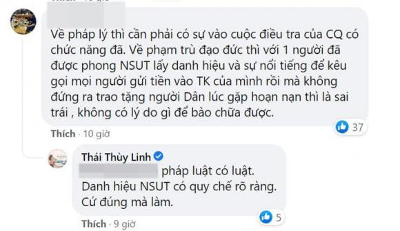 Thái Thùy Linh, NSƯT Hoài Linh, danh hài Hoài Linh