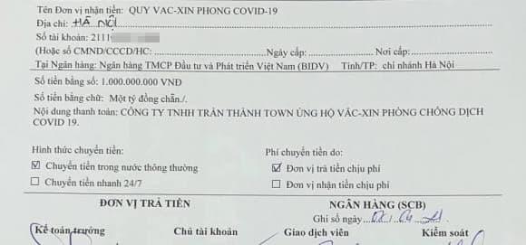 trấn thành, quỹ vaccine phòng covid-19, covid-19, sao việt