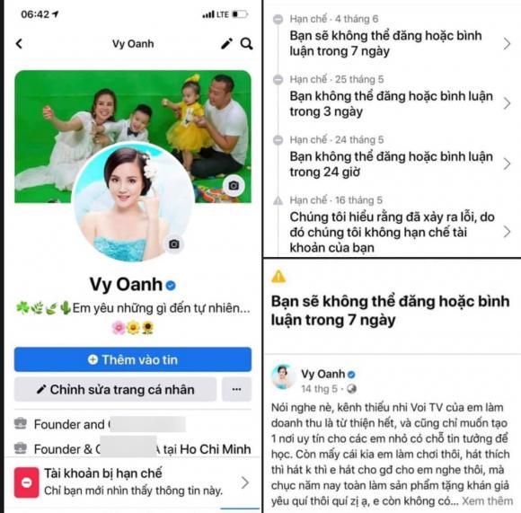 Vy Oanh, Nữ ca sĩ, Tấn công Facebook, Sao Việt