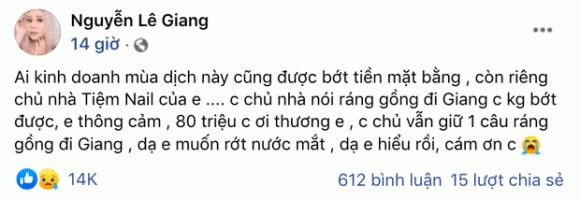 Lê Dương Bảo Lâm, Lê Giang, Duy Phương, Nguyên Khang, Ngọc Phước, Trường Giang, Kinh doanh, Covid-19, sao Việt