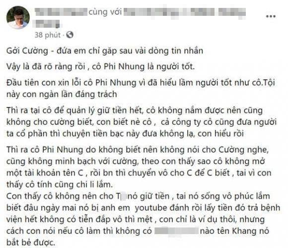 Phi Nhung, Hồ Văn Cường, N.H.K, hacker, tâm thư, sao Việt