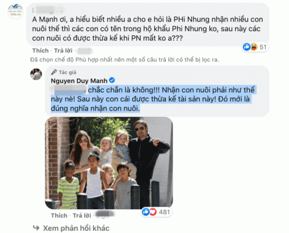 ca sĩ Phi Nhung, ca sĩ Duy Mạnh, sao Việt, con nuôi