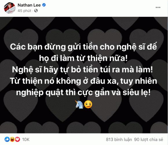 Nathan Lee, từ thiện, Thuỷ Tiên, sao Việt