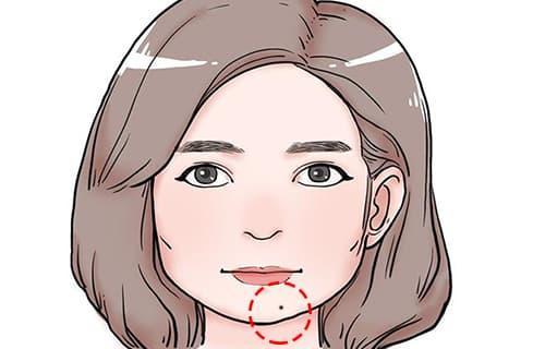nuốt ruồi, vị trí nốt ruồi trên mặt, phụ nữ có nốt ruồi
