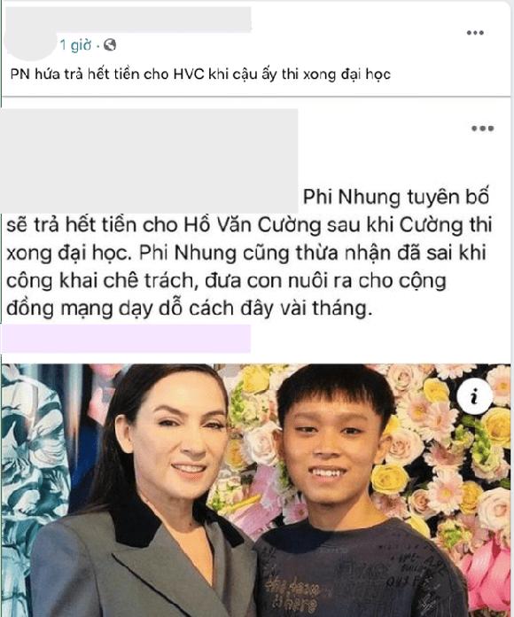 Phi Nhung, Hồ Văn Cường, cát-xê, sao Việt