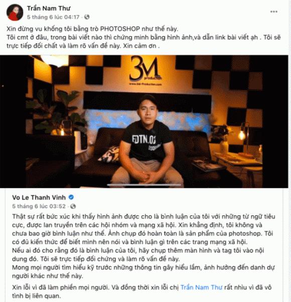 Nam Thư, Võ Lê Thành Vinh, con trai NSƯT Hoài Linh, bình luận, sao Việt,