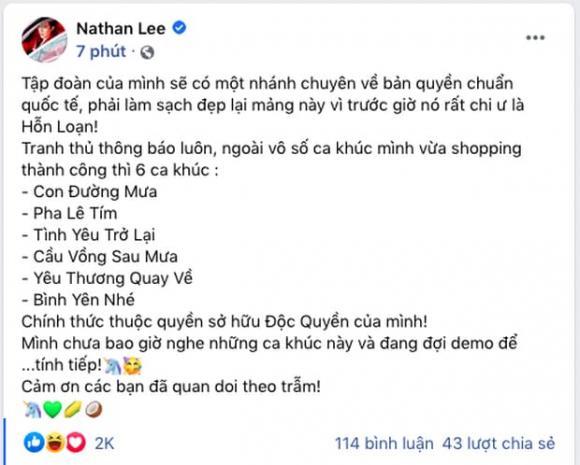 Nathan Lee, Cao Thái Sơn, nhạc việt