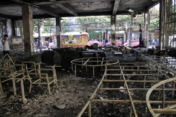 Cháy phòng trà, hỏa hoạn, 6 người chết cháy