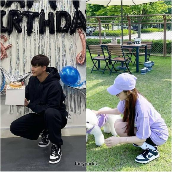 park min young, park seo joon, giày đôi, hẹn hò, sao hàn