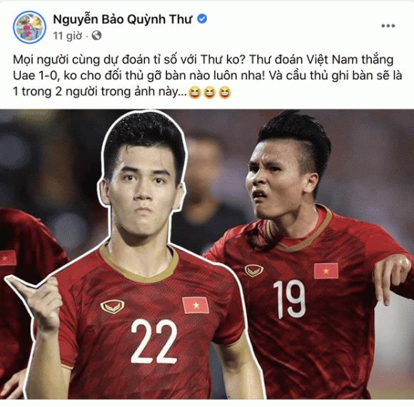 Quỳnh Thư, Tiến Linh, sao Việt