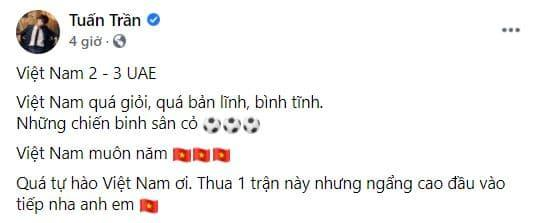 Đội tuyển Việt Nam, sao việt chúc mừng Đội tuyển Việt Nam, vòng loại 3 World Cup 2022