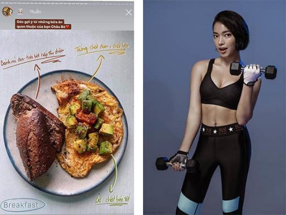 mỹ nhân việt, mỹ nhân việt ăn sáng, ăn sáng giảm cân