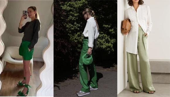 thời trang đẹp, xanh lá cây, cách mặc xanh lá cây