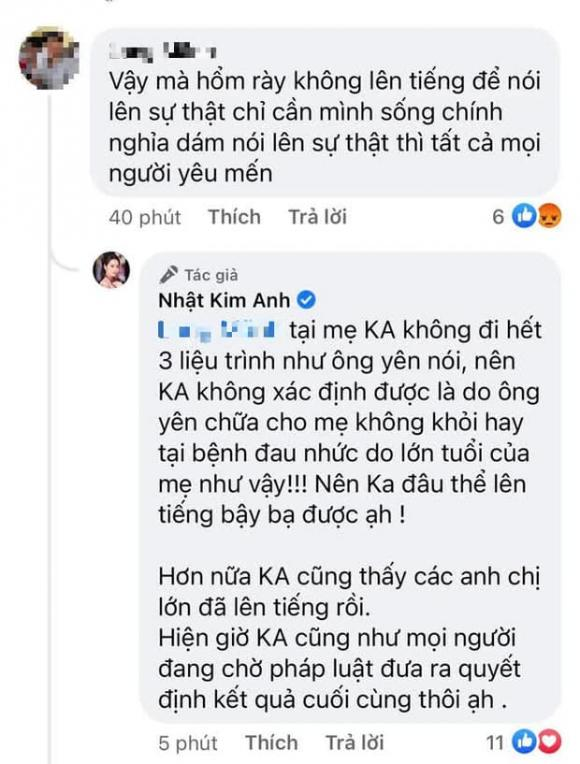 Nhật Kim Anh, Ông Võ Hoàng Yên, Sao Việt
