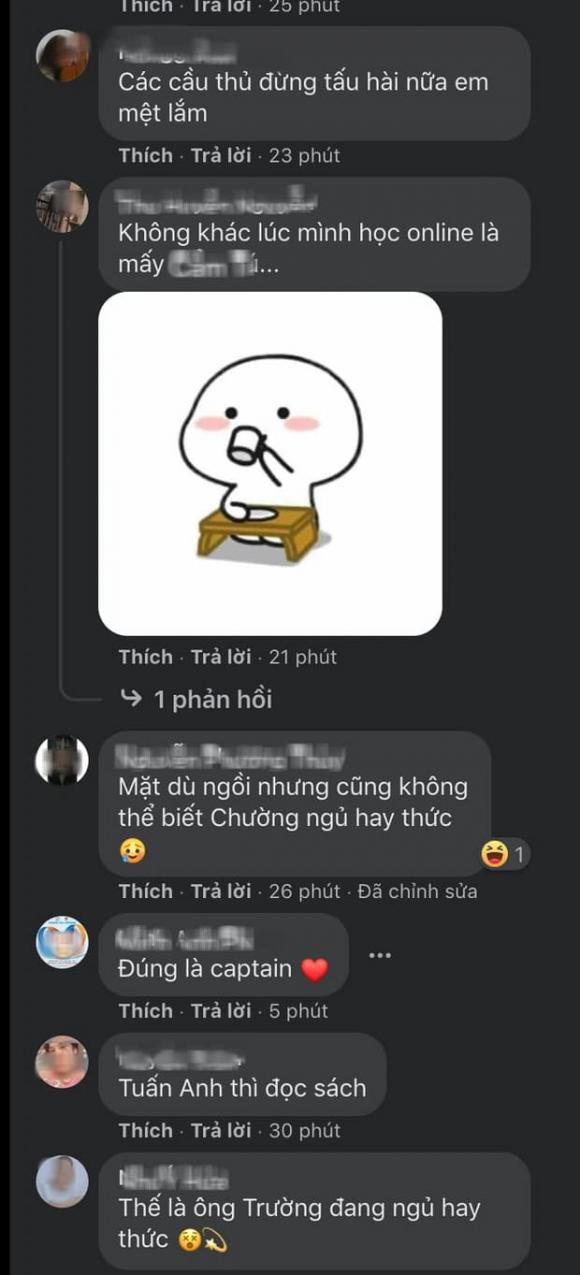 Xuân Trường, Tuấn Anh, Văn Toàn, Văn Thanh, Minh Vương