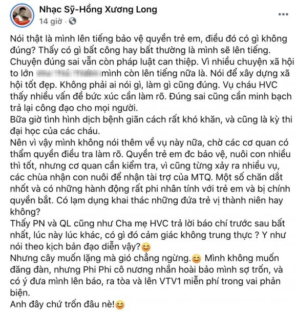 ca sĩ Phi Nhung, nhạc sĩ Hồng Xương Long, sao Việt