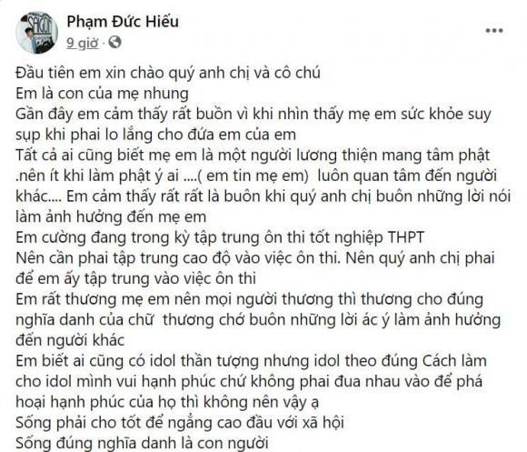 Phi Nhung, Con nuôi, Hồ Văn Cường, Sao Việt, Đức Hiếu