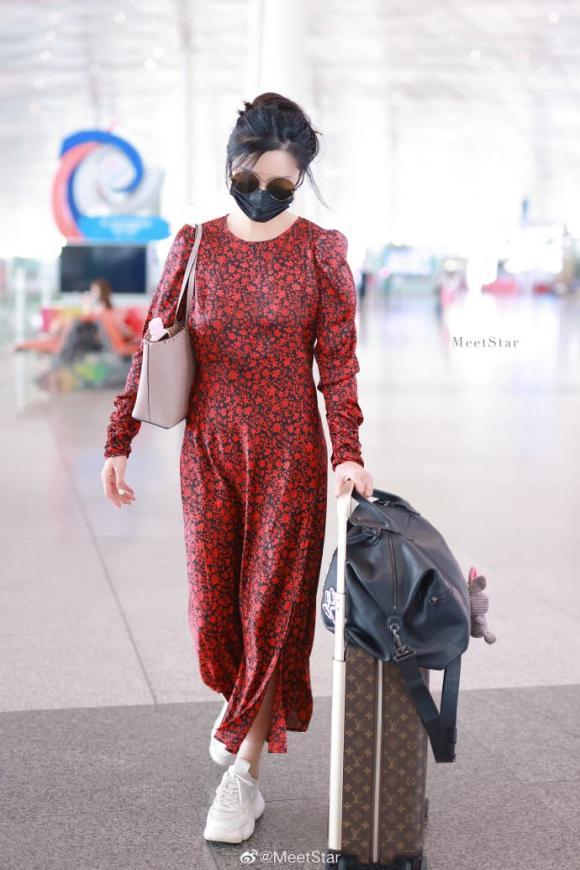 phạm băng băng, váy mỏng, thời trang sân bay, sao hoa ngữ