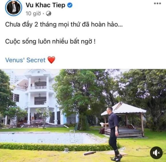 Vũ Khắc Tiệp, biệt thự Vũ Khắc Tiệp, sao Việt