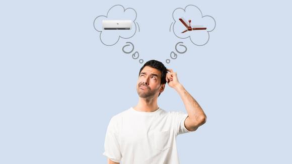 điều hòa, quạt, bật quạt khi sử dụng điều hòa, bật cả điều hòa và quạt, tiết kiệm điện, vừa bật điều hòa và quạt